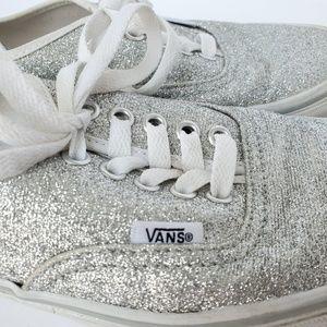 Vans silver sparkle sneakers size 8